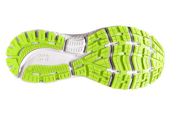 Brooks Ghost 13 Blue green outsole